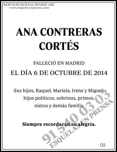 Ana Contreras Cortés
